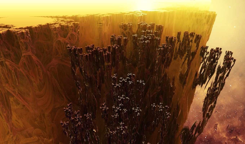 fractal, частицы, rendering,