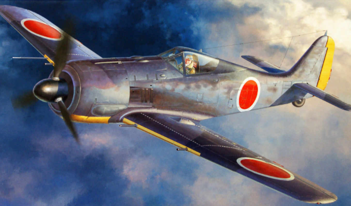 ww, war, japanese, focke, wulf, pictures, art, февр, hasegawa, painting,
