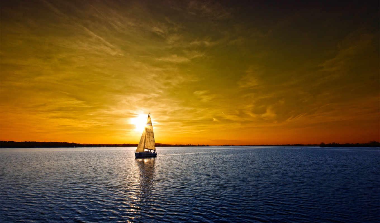 яхта, travel, fone, заката, яхте, море, февр, парусами, альбома, солнца,