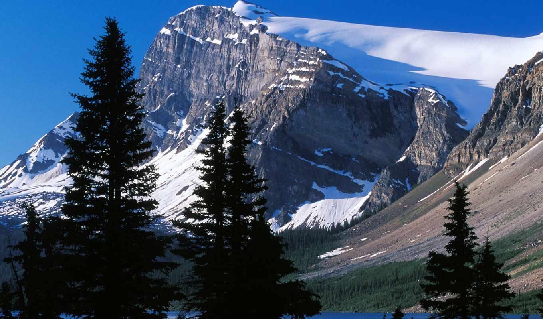 гора, канаде, горы, peak, гор, logan, снег, канада, канады,