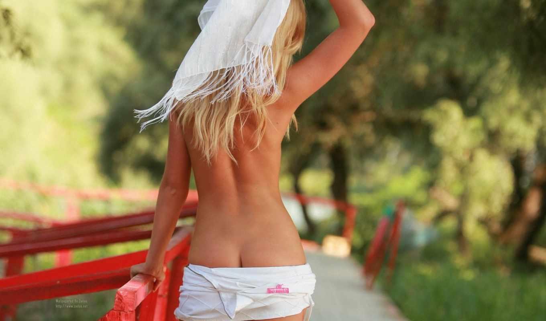 devushki, print, hot, sexy, спина, плакат, babe, попы, стена, topless,