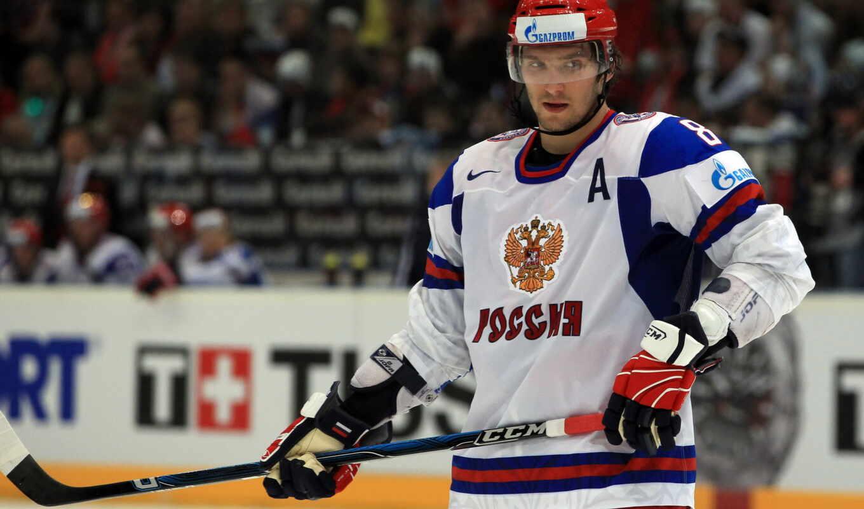 обои, хоккей, хоккеист, овечкин, россии, форма, сб