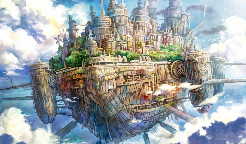 арт, kemi, небе, neko, file, anime, полет, similar, архива, корабль, корабли, sky, computer, colors, desktop, part, забавные, город, aircraft, original, size,