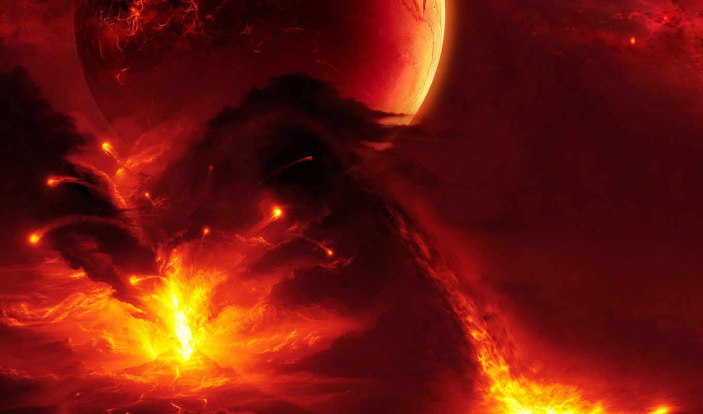 лава, пламя, red, planets, огонь, flames, top, images, извержение,