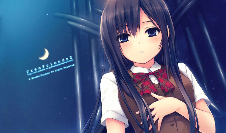 free, anime, friends, shinozaki, sumire, uniforms, hair, school,
