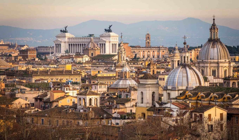 рим, italy, город, здания, графика,