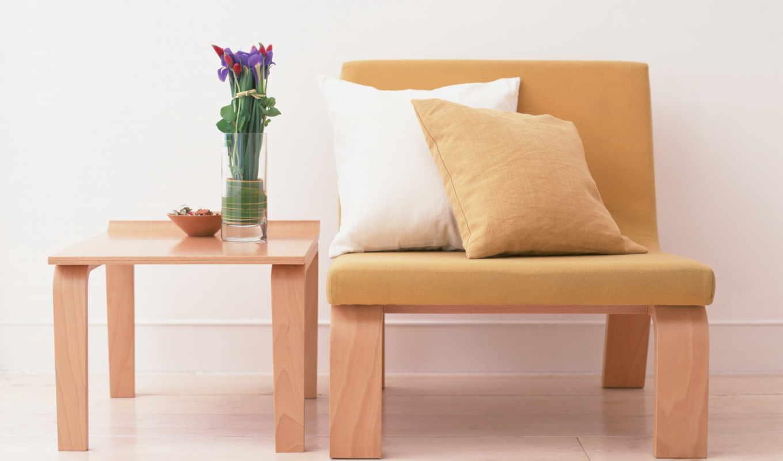 ,кресло,столик,цветы