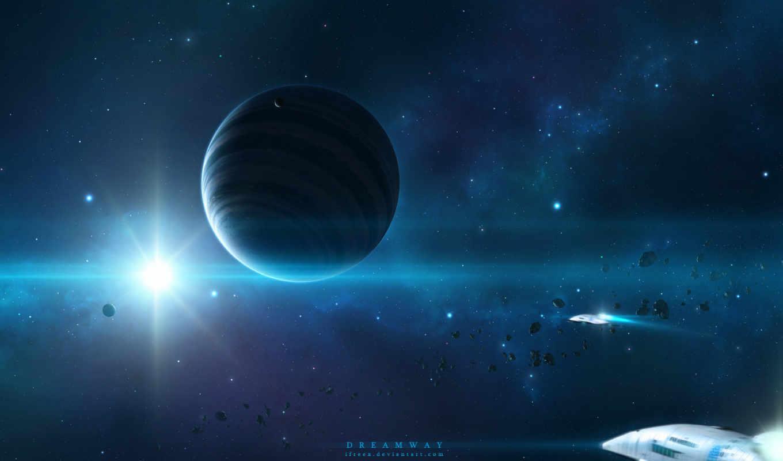 cosmos, космос, outer, корабли, фон, дек, космические,