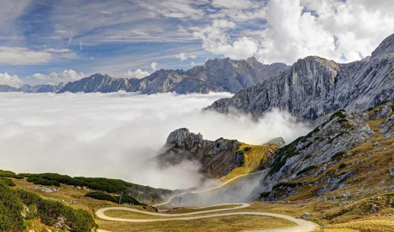 alpen, deutschland, bayern, berge, hintergrundbild, bäume, desktop, wolken, himmel,