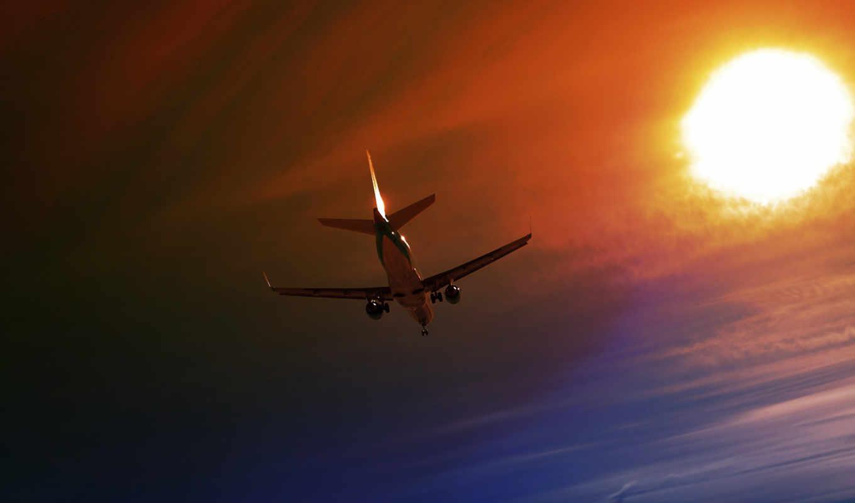plane, небо, ночь, preview, desktop, полет, traffic,