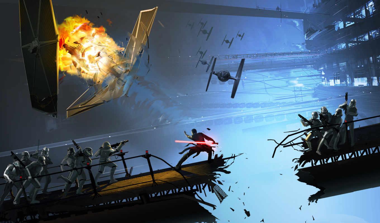 unleashed, wars, star, force, desktop, anime, game, взрыв, штурмовики, free,