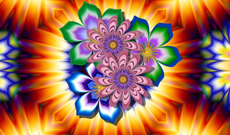 яркими, красочные, but, абстрактными, формами,