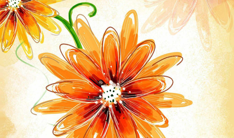 цветы, рождения, тюльпаны, оранжевые, янв, оранжевой, одуванчик,