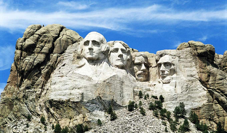 гора, рашмор, получения, mount, usa, rushmore, мемориал, national,