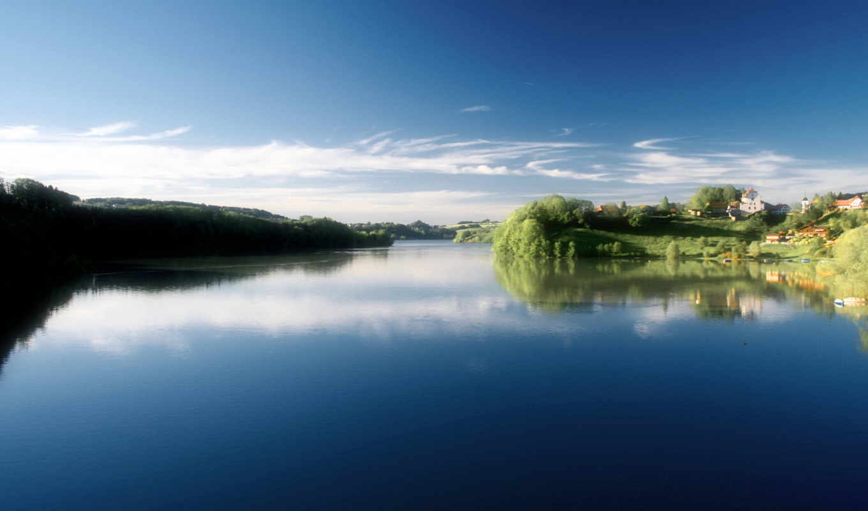 река, природа, reki, озера, берега, отражение, кб, лес, моря,