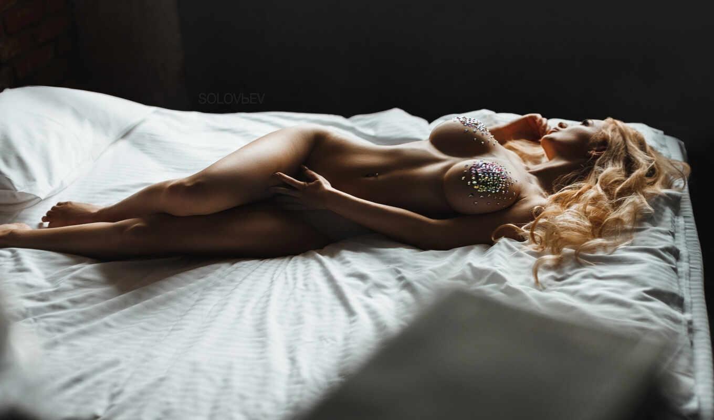 девушка, голая