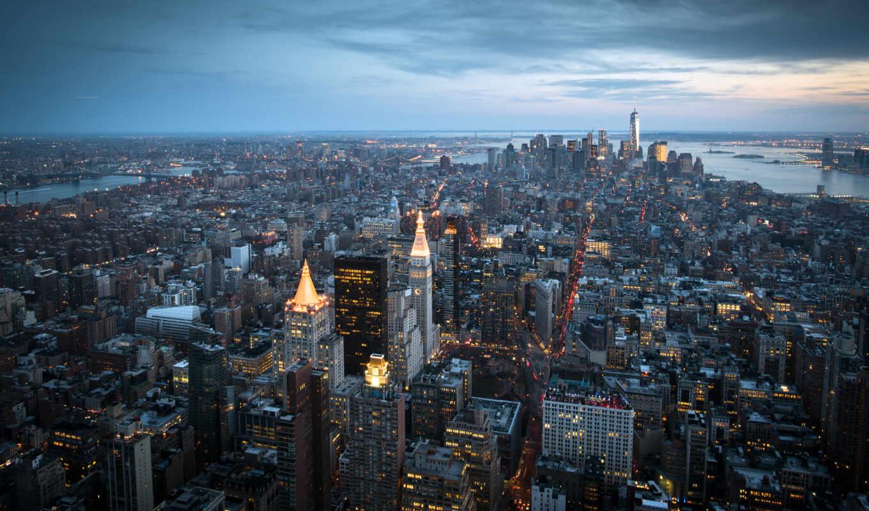 город, new, york, нью, manhattan