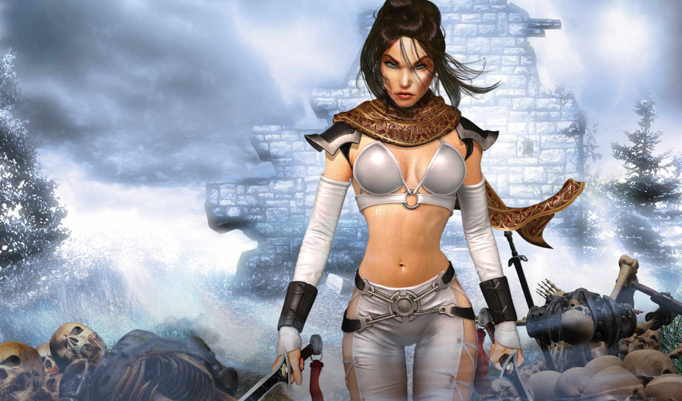 legends, untold, kingdom, dark, games, game, девушка, warrior, игры, черепа, woman, фэнтези,