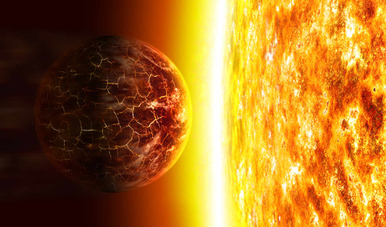 планета, горит, солнце, желтая, смотрите, поделиться, вернуться,