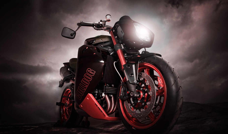 vilner, мотоцикл, красный,