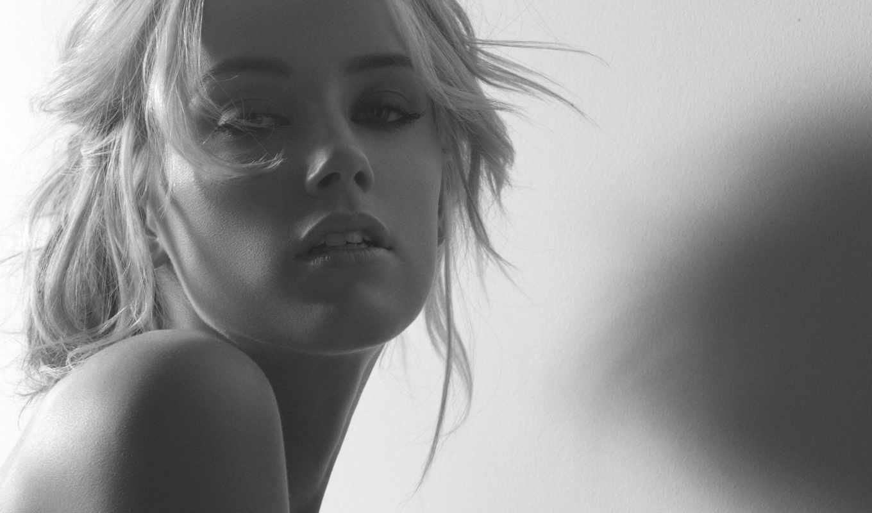 amber, heard, чёрно, белое, блондинка, actress, блондинки, взгляд, women, эмбер, хёрд,