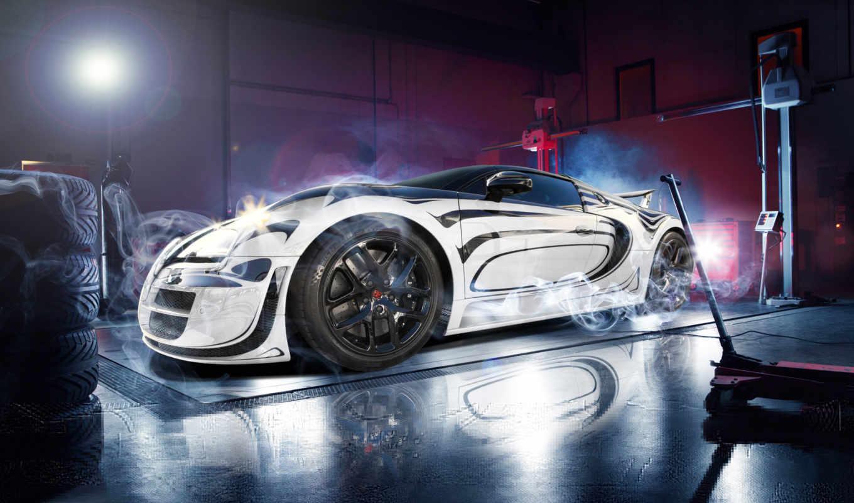 bugatti, veyron, спорт, супер, pur, blanc, white, суперкар,