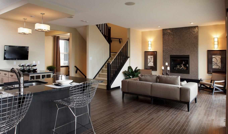 обои, дизайн, комната, стиль, интерьер, стулья, ме
