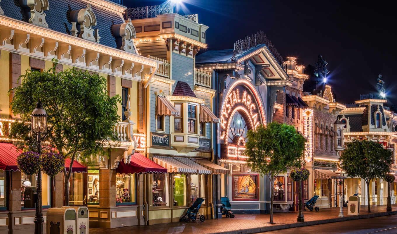 california, улица, диснейленд, main street usa.,