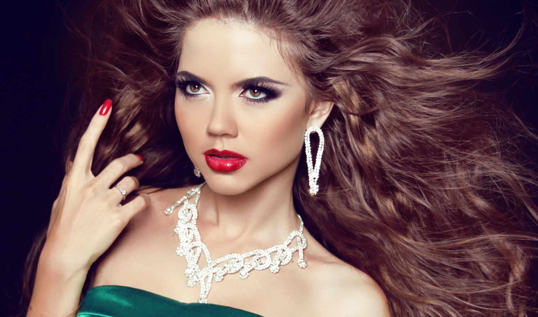 модель, макияж, девушка, jewelry,