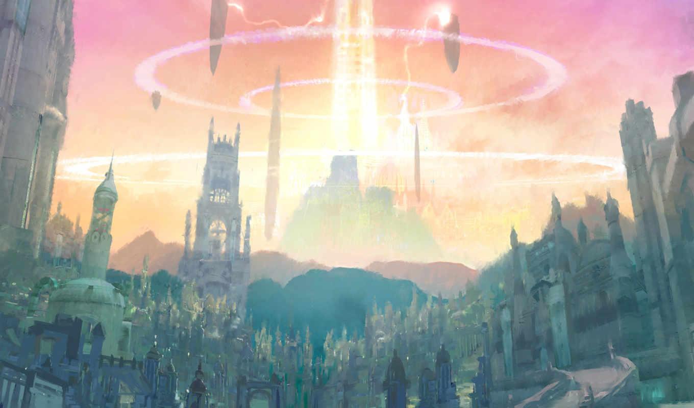 aion, игры, башня, eternity, concept, art,