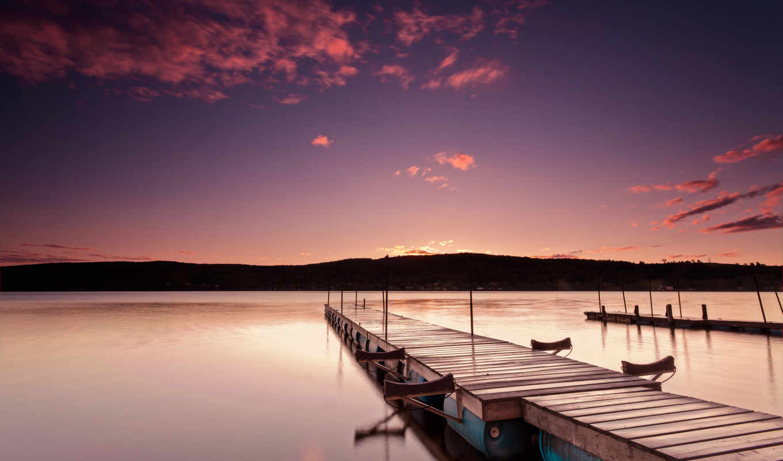 pier, озеро, моря, канада, море, one, click, розовый,