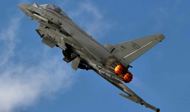 eurofighter, typhoon, картинка, истребитель