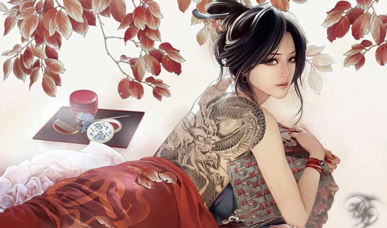 drawing, девушка, спина, brunette, татуировка, anime, adsbygoogle, adsense, красивый, ab, tat