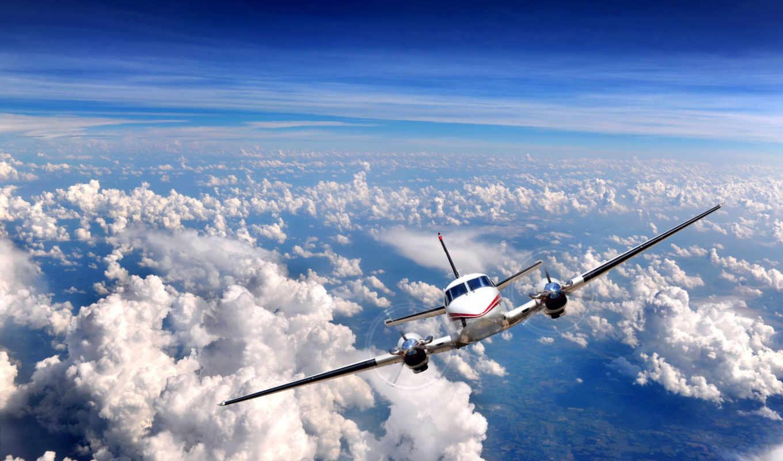 great, flight, sky, самолёт, jet, clouds, plane, airplane, авиация,
