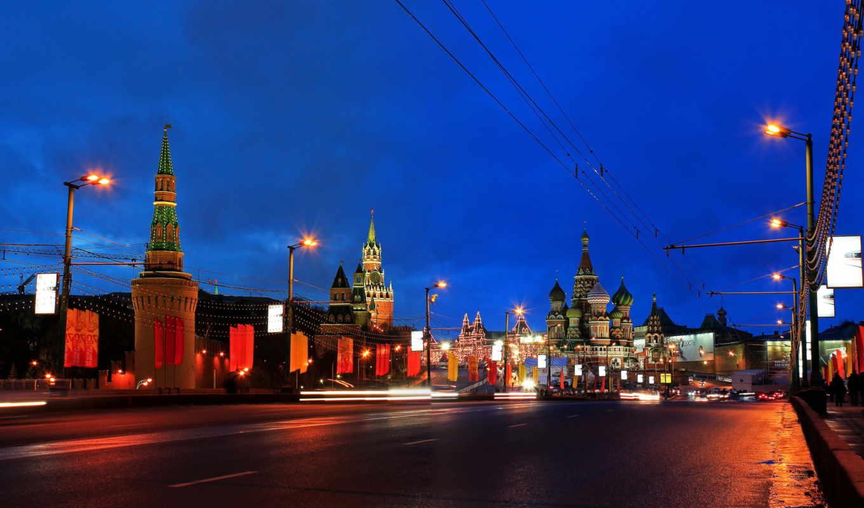 города, россия, москва, мосты, ночь, реки, дороги, большой, москворецкий,