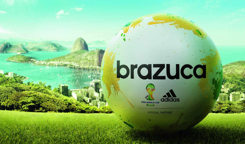 мяч, brazuca, adidas, official, бразилии, мира, чемпионата, матча, футболу, года,