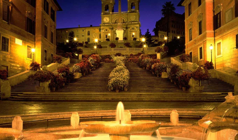 рим, italy, лестница, испанская, фотообои,