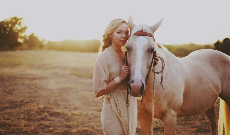 лошадь, девушка, женщина, фото, new, тема, красавица, screensaver, every