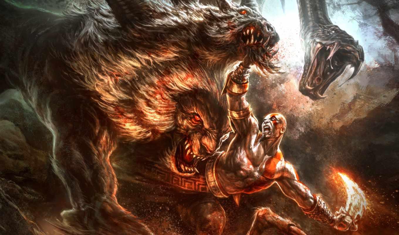 god, war, игра, kratos,