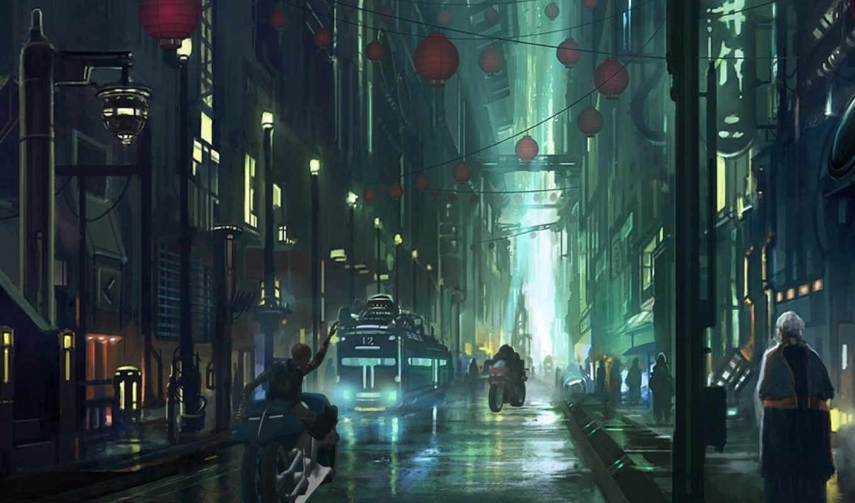 арт, город, фантастика, ночь, будущее, люди, картинка, картинку, rocha, andreas, ты, digital, поделиться, картинками, streets, же, понравившимися, левой, так, салатовую, not, улица, кномку, кликните,