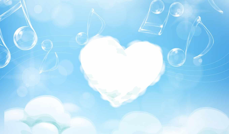 love, ноты, облака, голубое, воздухе, картинка, air, desktop, day, valentines, kalp, imagenes,