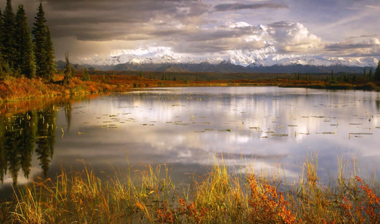 озеро, горы, природа, осень, пейзаж, пруд, деревья, obrazek, mountains, linkiem,