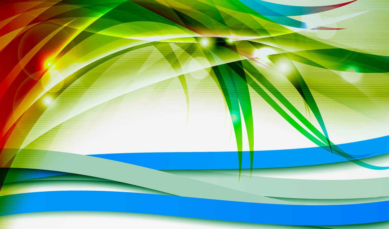 линии, голубой, красный,зеленый,лепестки,