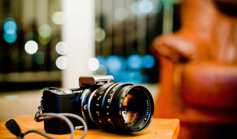 papel, parede, câmera, sony, nex, fotografica,