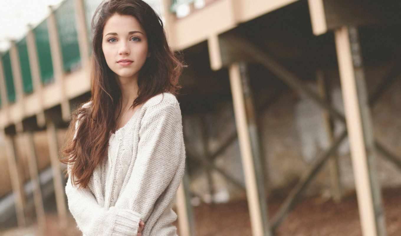 девушка, красивая, emily, rudd, лицо, взгляд, девушек,