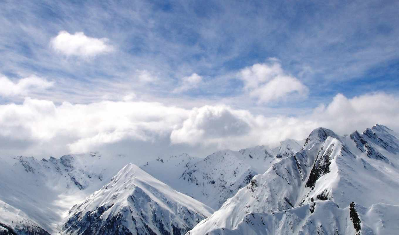 mountains, снег, white, природа, cool, clouds, winter, небо,