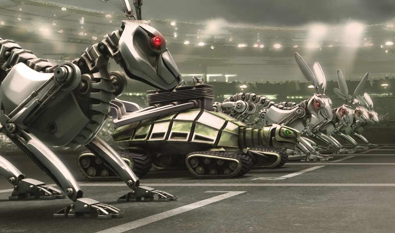 обои, роботы, звери, робот, качественные, это, ua,
