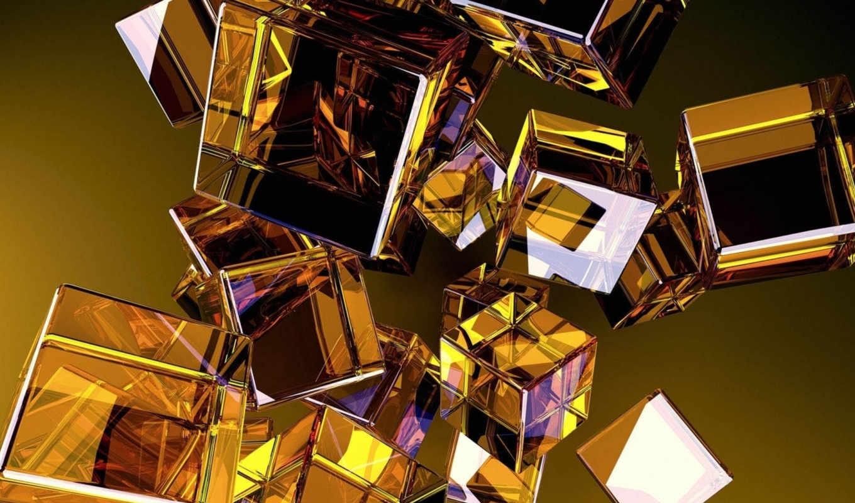 кубики, glass, cubes, разное, абстракция,
