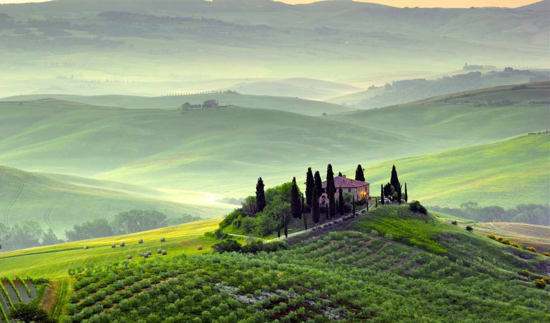 италия, пикабу, горы, туман, пейзаж,