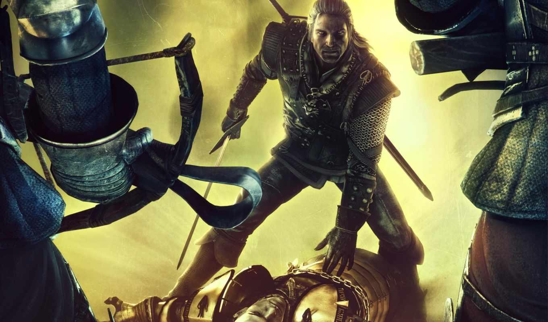 witcher, игра, kings, assassins, рисунок, эпизод, сюжет, игры, geralt, games, video, битва,